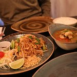 Pad Thai and Lao Curry