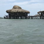 Pelican Bar - the structure on the right sells souvenirs and snacks.