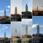Compilation of the view of the UT bell tower from my hotel room