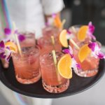 cocktails to accompany beautiful smoked salmon steaks at #bluemangopatong