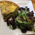 Mediterranean quiche with salad