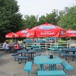Spotless splash area food/bev seating