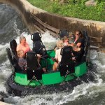 Family fun riding the rapids!