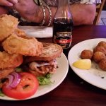 Chicken Meister on Rye and hushpuppies
