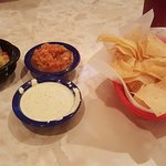 Jalapeno ranch and the guacamole dip are great way to start the meal.