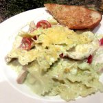 Bow Tie Pasta with Tomatoes and Garlic Toast, Grand Cafe at Red Rock Resort, Las Vegas, NV