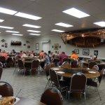 Large dining room at Buckner's.
