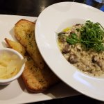 Burger, risotto, £3 winter veg side dish