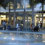 Fountains outside the mall.