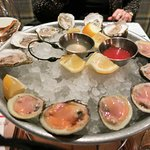 East coast oysters and Littleneck clams