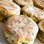 Homemade spinach scones