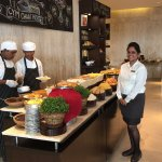 Some of the many delicious cuisine options available during lunch buffet at the restaurant.