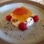 Raspberry and honey dessert