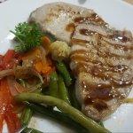 Blue Marlin Steak served with Vegetables