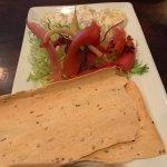 Burrata, pickled vegetables and crackers
