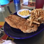 I asked fir a bacon a avocado on toast, my 10 yr old granddaughter wanted chicken fried steak!