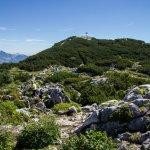 Steinplatte Gipfelkreuz