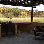 patio and braai area