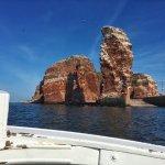 Inselrundfahrt im Börteboot - tolle Ansicht der Langen Anna