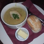 Soup of the day, curried parsnip, very good.
