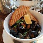 Delicious mussels in beersauce