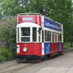 A tram on the tramway