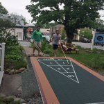 Shuffleboard in front of the Inn. We also ate breakfast out here.