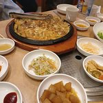 Side dishes and Seafood Pancake