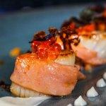 Scallops, Smoked Salmon, Cauliflower & Keta Caviar