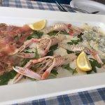 Tuna, Shrimp and Monkfish Carpaccio, Amazing!