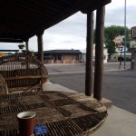 Quiet and comfortable outdoor seating on Route 66