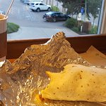 California burrito and coffee.