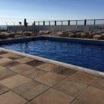 Outside heated pool