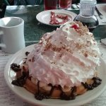 Hot Fudge Banana Split Waffle