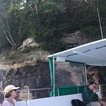 The Captain got us close to Pictured Rocks to almost touch it - so cool.