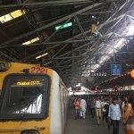 Inside and outside Chhatrapati Shivaji Train station in August