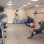 Get your workout on in our newly renovated and equipped fitness room!