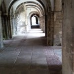 The cloisters leading, amongst other places, to the gardens.