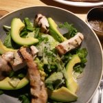 chicken avocado salad (honey dressing asked for on the side)