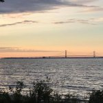 Mackinac Bridge view from campground