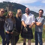 Eilean Donan Castle with our tour guide Dave.