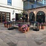 Beautiful courtyard to enjoy a cup of coca tea