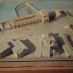 A model of the museum