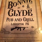 From Bonnie and Clyde's, Lehighton PA