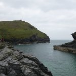 View out from the Boscastle Harbour