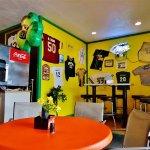 Inside dining area.