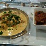 Fricassée de lotte au curry/ratatouille