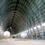 hangar à dirigeable intérieur