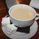 lemon vanilla hot chocolate with homemade marshmallows