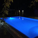 Ambassador Villa pool (at night)
